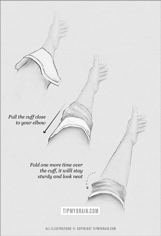 how to fold sleeves